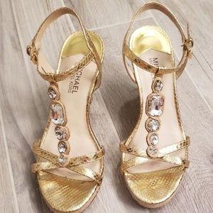 Michael Kors Gorgeous Gold Espadrilles